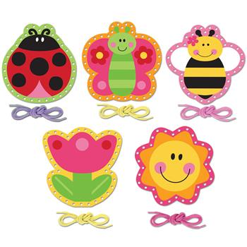 lacing card set for toddlers garden lacing card set