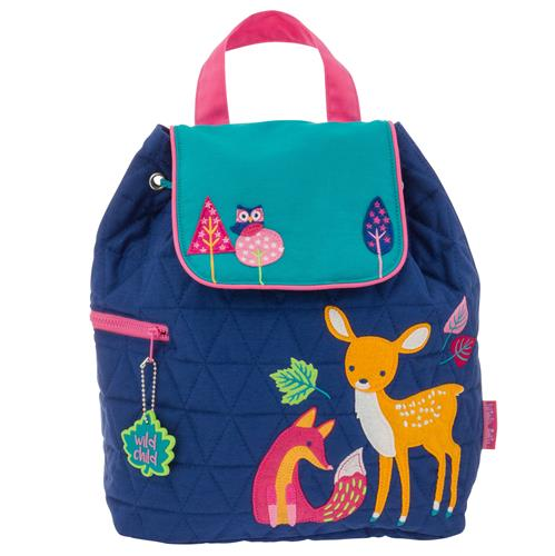 quilted backpack woodland