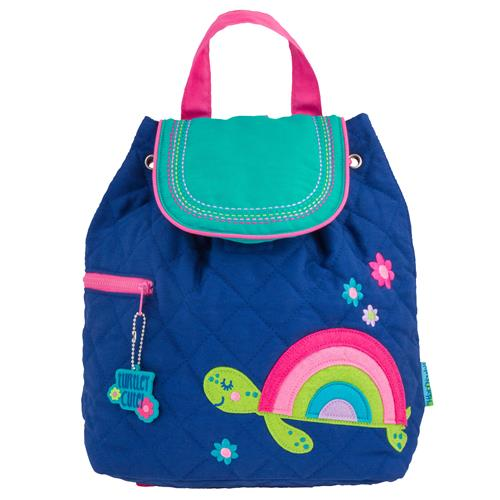 QUILTED BACKPACK RAINBOW TURTLE