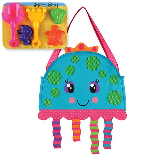 BEACH TOTES (w/sand toy play set)  JELLYFISH (S16)