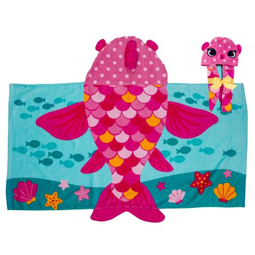 HOODED TOWEL  FISH (S18)