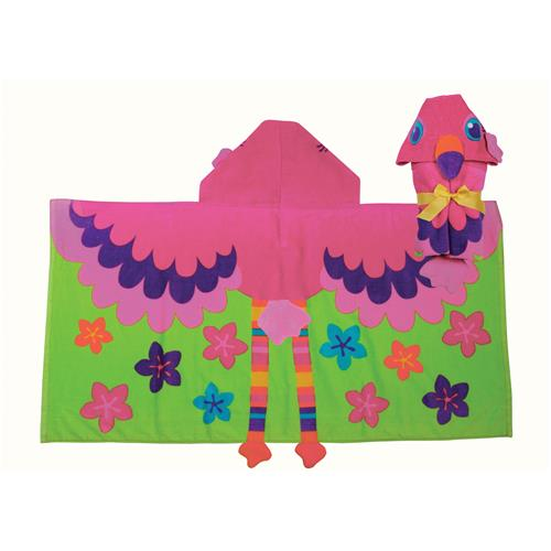 HOODED TOWEL  FLAMINGO (S17)