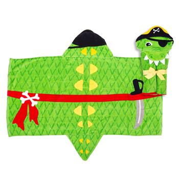 HOODED TOWEL  ALLIGATOR PIRATE (S18)