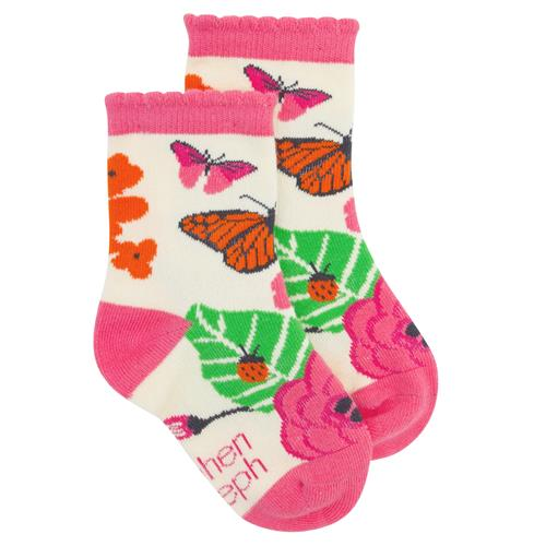 TODDLER SOCKS BUTTERFLY LARGE (S20)