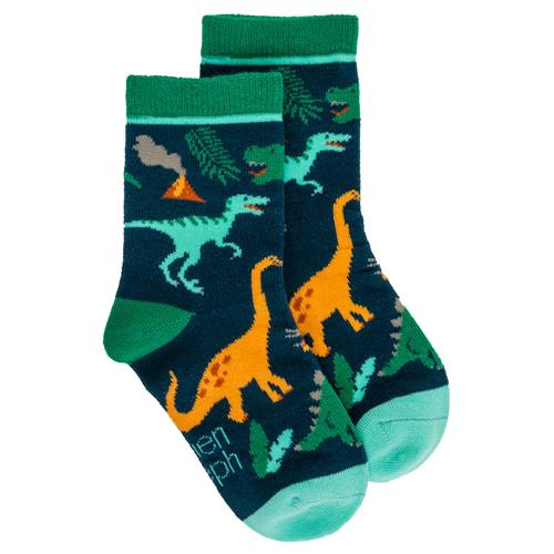 TODDLER SOCKS MULTI  DINO MEDIUM (F19)