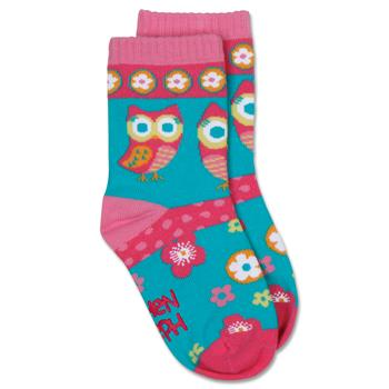 Knitted socks for toddlers | Medium owl children