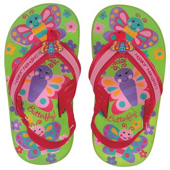 TODDLER FLIP FLOPS  BUTTERFLY LARGE  (S16)