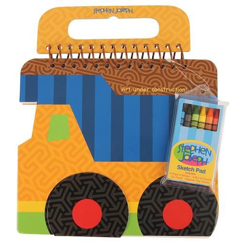 Colorful preschooler sketch pads | Construction shaped sketch pad