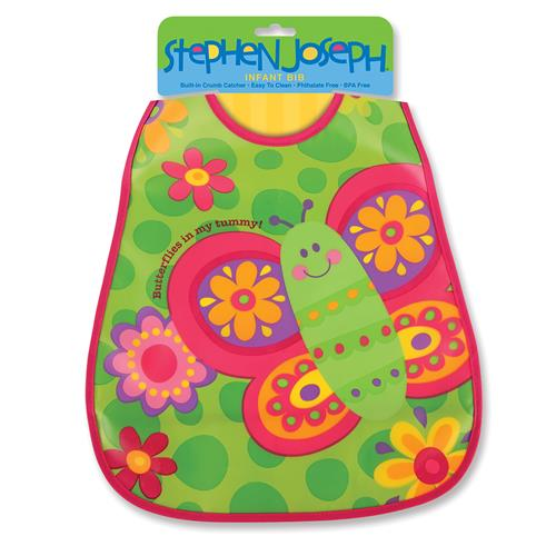 Wipeable bibs for toddlers | Butterfly wipeable bib for infants