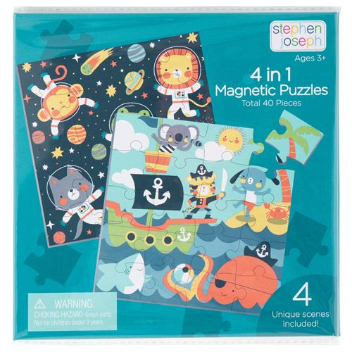 4 IN 1 MAGNETIC PUZZLE BOOK BOY (S21)