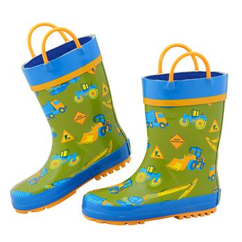 ALL OVER PRINT RAINBOOTS CONSTRUCTION