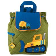 Quilted Backpack for pre-schoolers | Toddler construction backpack