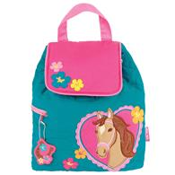 QUILTED BACKPACK GIRL HORSE  (F16)