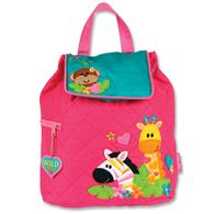 QUILTED BACKPACK  GIRL ZOO (S15)
