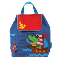 QUILTED BACKPACK ALLIGATOR/PIRATE (S17)