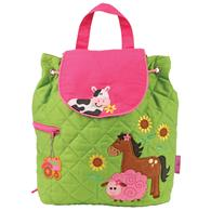 Quilted Backpack for pre-schoolers | Farm backpack for girls