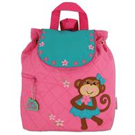 Quilted Backpack for pre-schoolers | Girls monkey backpack