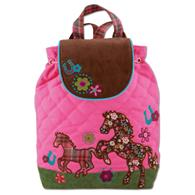 Signature quilted backpack for preschoolers | Toddlers signature horse backpack