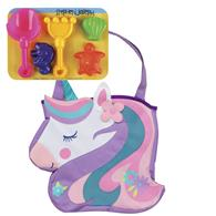 BEACH TOTES (w/sand toy play set)  UNICORN (S19)
