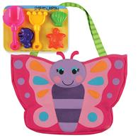 BEACH TOTES (w/sand toy play set) BUTTERFLY (S16)