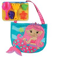 BEACH TOTES (w/sand toy play set) MERMAID  (S17)