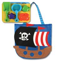 BEACH TOTES (w/sand toy play set) PIRATE