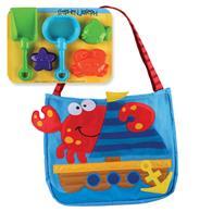 BEACH TOTES (w/sand toy play set) CRAB