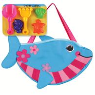 BEACH TOTES (w/sand toy play set) DOLPHIN