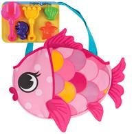 BEACH TOTES (w/sand toy play set)  FISH (S18)