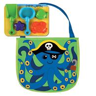 BEACH TOTES (w/sand toy play set)  OCTOPUS/PIRATE (S15)