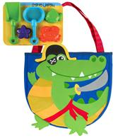 BEACH TOTES (w/sand toy play set)  ALLIGATOR PIRATE  (S18)