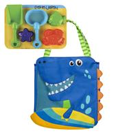 BEACH TOTES (w/sand toy play set)  DINO (S19)