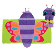 HOODED TOWEL  BUTTERFLY (S16)