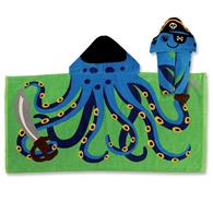 HOODED TOWEL OCTOPUS/PIRATE