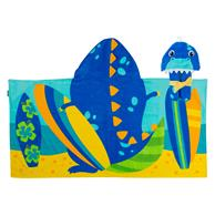 HOODED TOWEL DINO (S19)