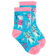 TODDLER SOCKS CAT LARGE (S19)
