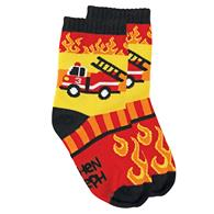 Knitted socks for toddlers | Large firetruck children