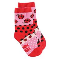 Knitted socks for toddlers | Small ladybug children