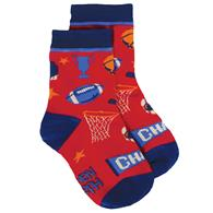 TODDLER SOCKS SPORTS SMALL (S17)