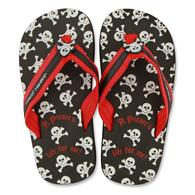Flip flops for toddlers | Large pirate flip flops for children