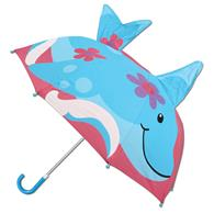 3-D umbrellas for kids | Dolphin pop up umbrella