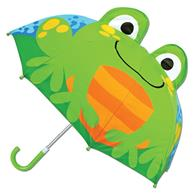 3-D umbrellas for kids | Frog pop up umbrella