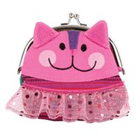 SIGNATURE KISS LOCK PURSE CAT (F16)