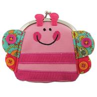 Preschooler signature coin purse | Butterfly kiss-lock purse