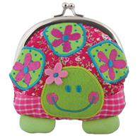 Preschooler signature coin purse | Turtle kiss-lock purse