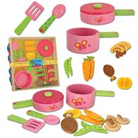 Wooden Toy Cook Set for Preschoolers | Children