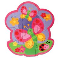 Toddler double-sided puzzle | Garden Play and Color Puzzle