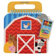 Colorful preschooler sketch pads | Farm shaped sketch pad