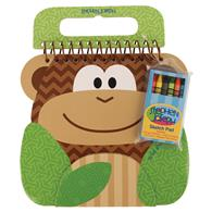 Colorful preschooler sketch pads | Monkey shaped sketch pad