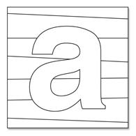 Alphabet canvases for preschoolers | Letter A3 canvas